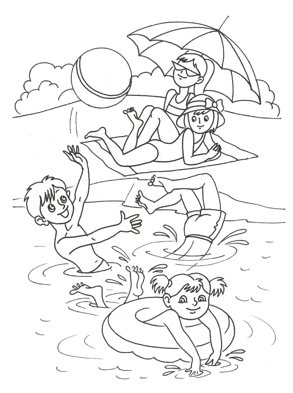 лето раскраски лето раскраски для детей на тему каникулы лето