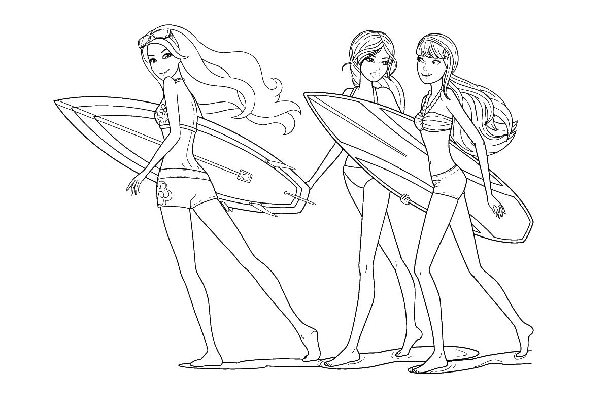 раскраски с барби по серии мультфильмов для девочек