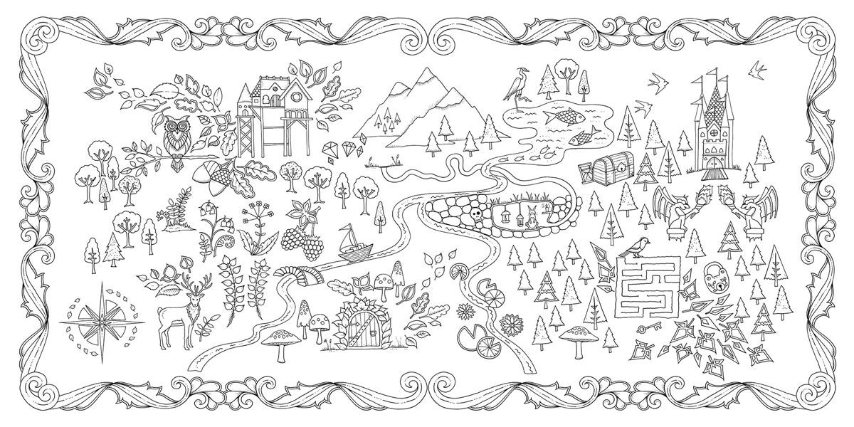 раскраски таинственный лес