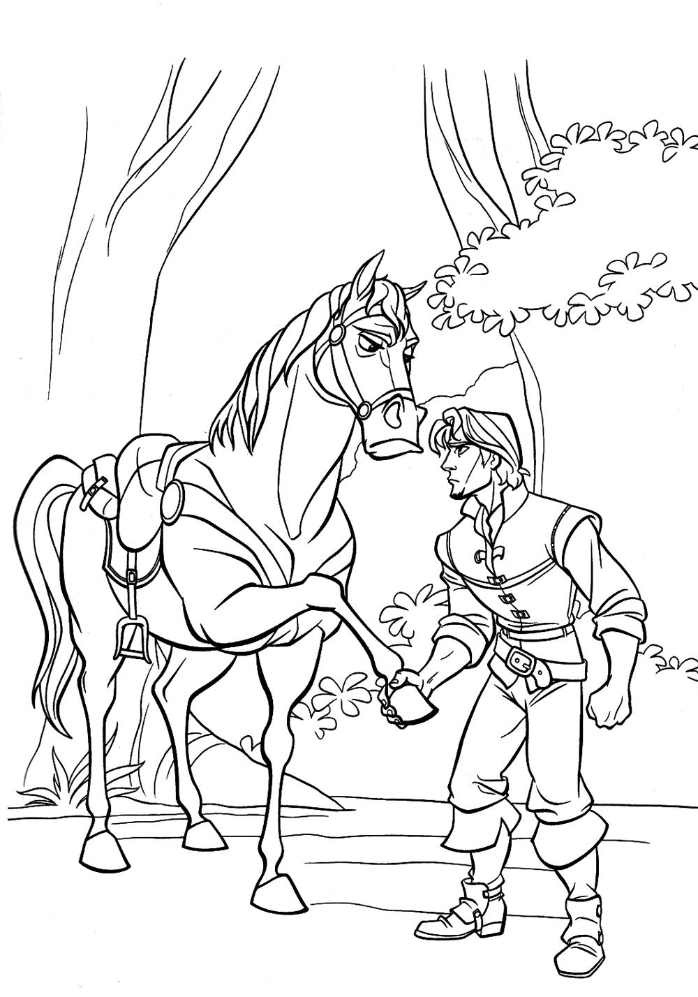 раскраски для девочек по мультфильму рапунцель