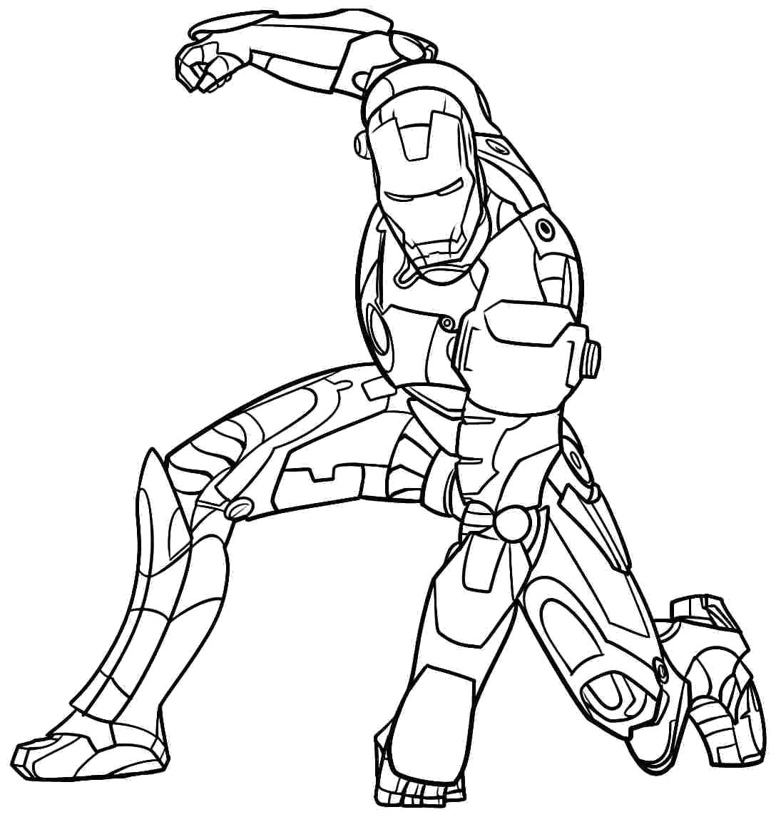 раскраски с изображением железного человека для мальчиков
