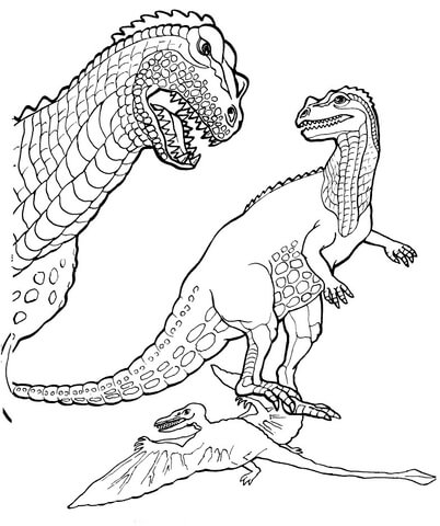 Раскраски динозавров цератозавров Цератозавр скачать и распечатать. Раскраски для детей бесплатные онлайн.
