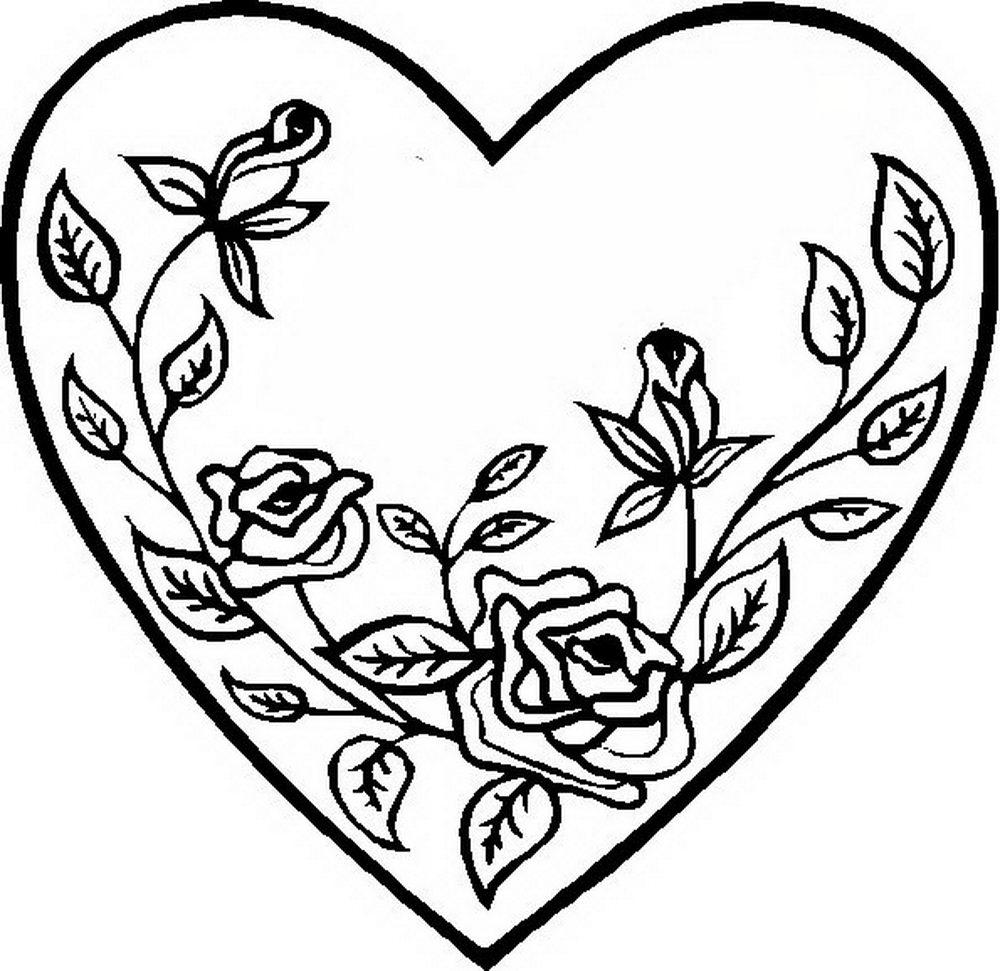 раскраски с сердечками для детей