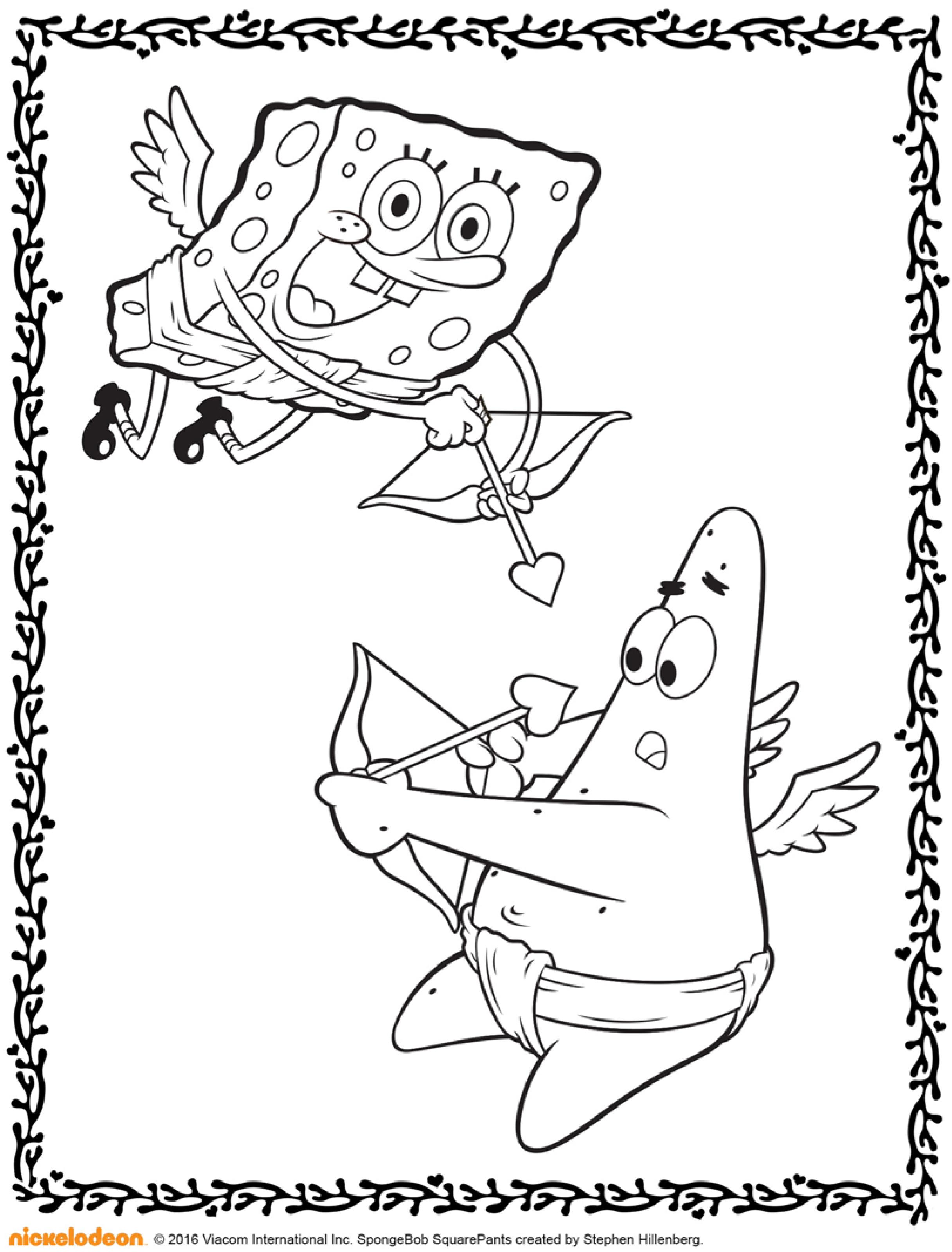 раскраски на тему спанч боб для детей