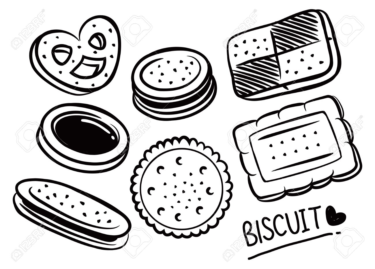 Печенья. Раскраски печенья. Раскраски для детей на тему еда. Раскраски на тему сладости, выпечка. Раскраски для детей с печеньями. Скачать раскраски с печеньями.
