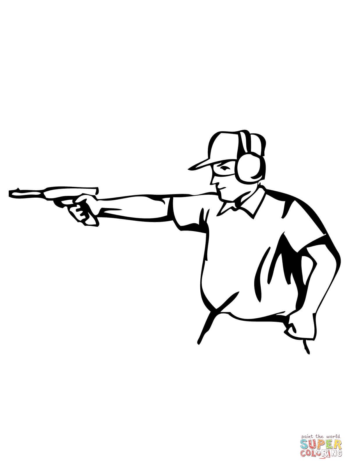 раскраски про стрелковый спорт подходящие как детям так и ...