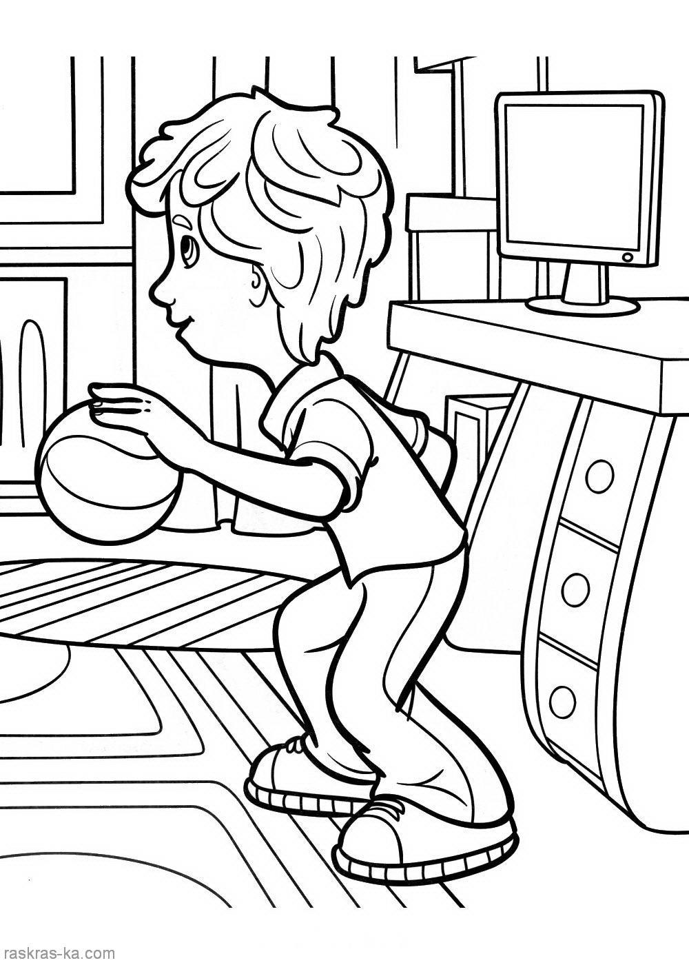 раскраски из отечественного мультфильма для детей на тему ...