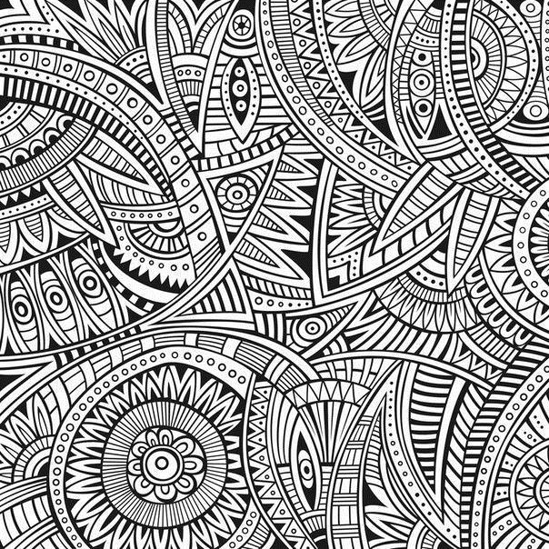 Раскраски для взрослых, помогающие успокоить нервы. Арт-терапия. Раскраски с арт-терапией, узорами, абстракцями. Расслабляющие раскраски - абстракции.