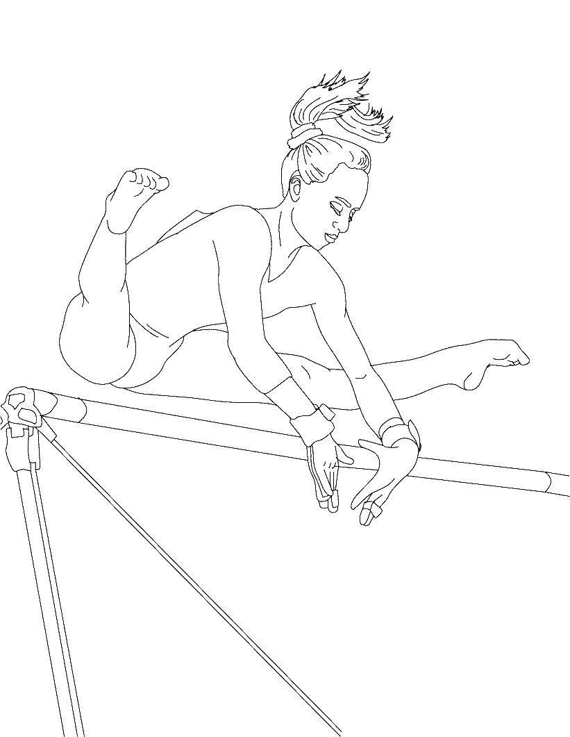 Раскраски гимнастика Раскраски гимнастика, гимнастка, гимнаст, прыжки в высто, упражнения на кольцах, гимнастика с лентой, гимнастика с мячом
