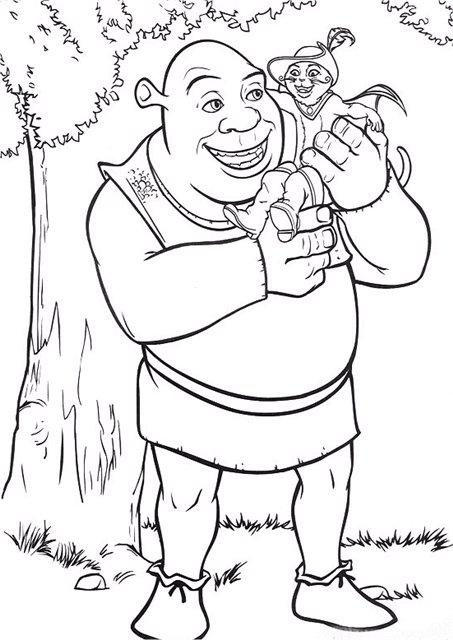 Раскраски шрек Раскраски Шрек - это серия анимационных полнометражных фильмов про большого зеленого огра Шрека