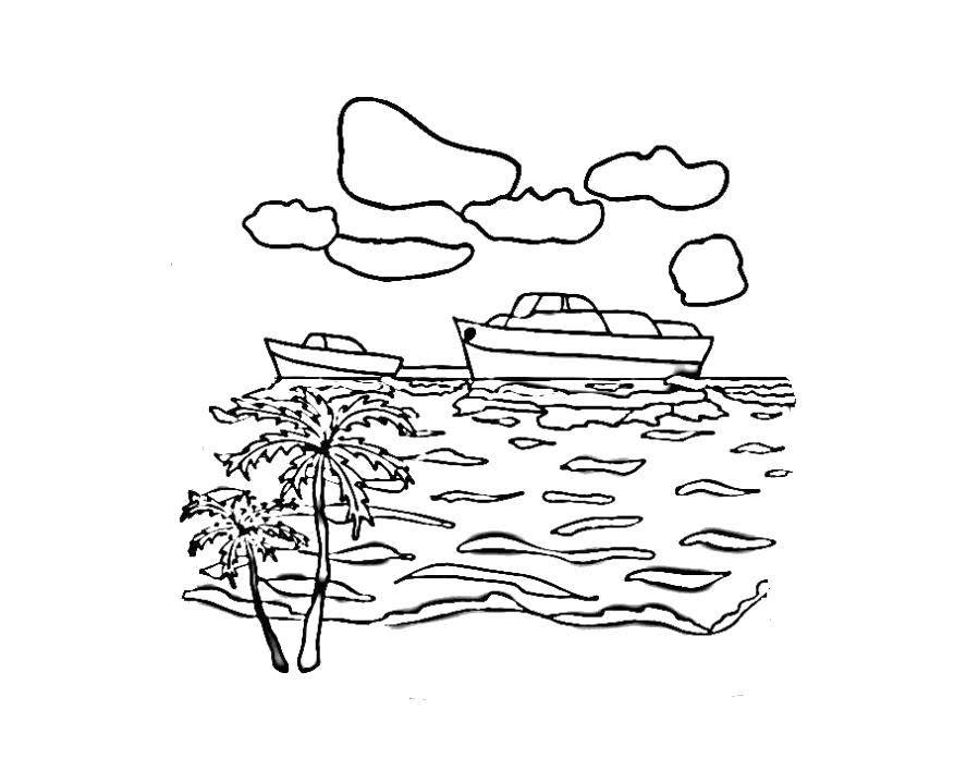 Раскраски море Раскраски море, морские раскраски для детей, море раскраска для малаша