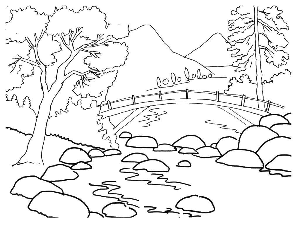 Раскраски река Раскраски река, раскраски с рекой для детей, река раскраска для малыша