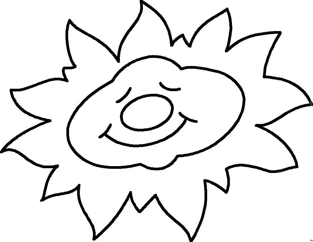 Раскраски Контуры солнце Раскраски Контуры для вырезания солнце малышам