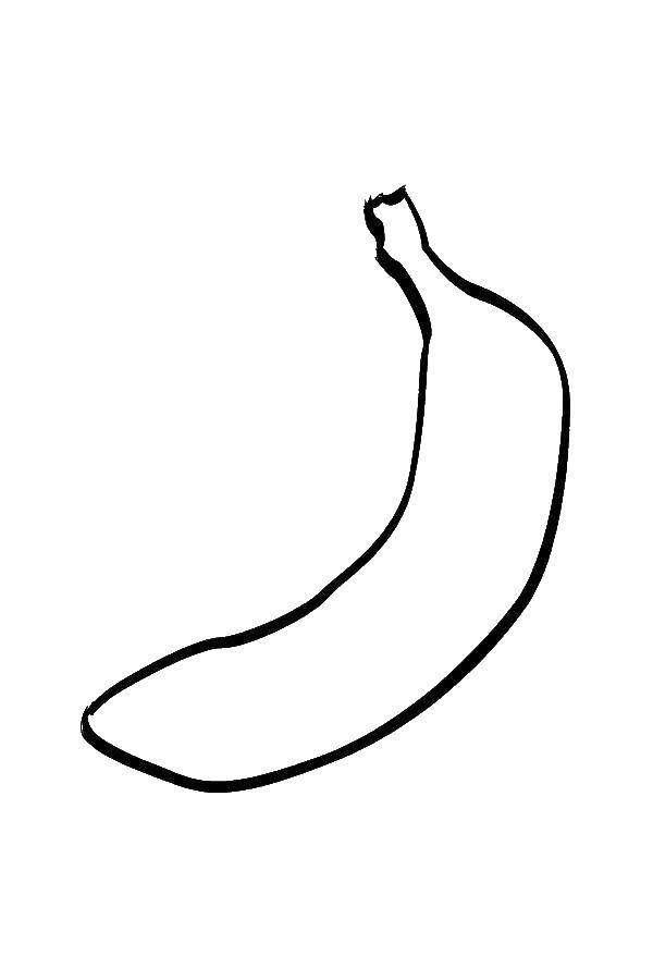 Раскраски Контуры фрукты Раскраски Контуры фруктов для вырезания детям, банан, яблоко