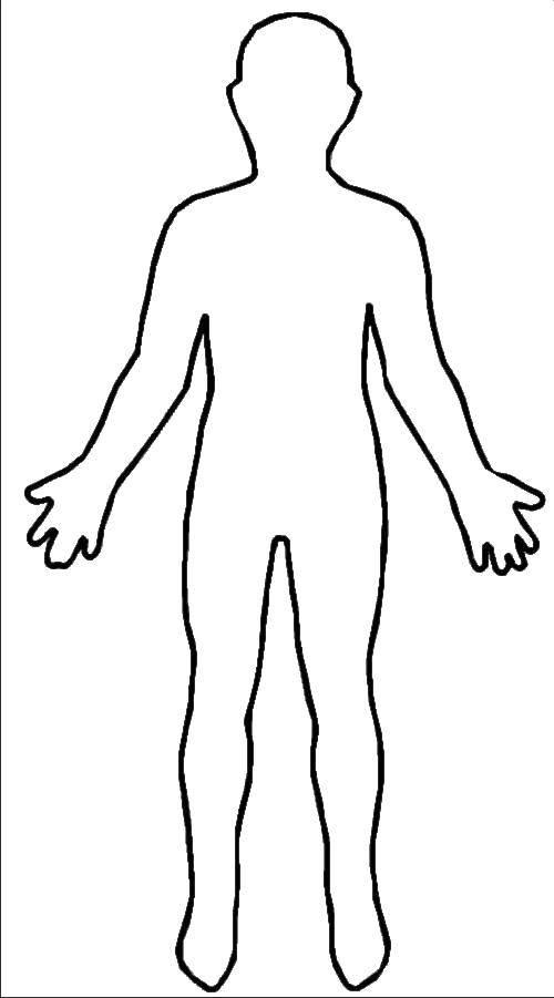Раскраски Контуры человек Раскраски Контуры человек для вырезания из бумаги