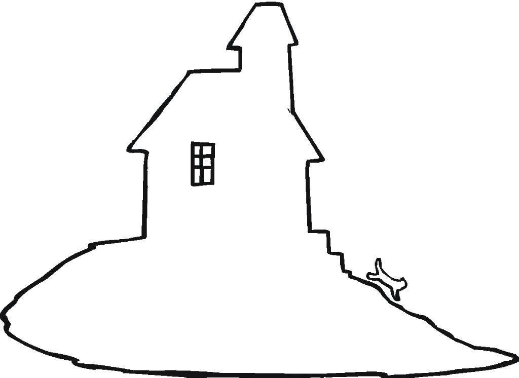 Раскраски контуры дома Раскраски контуры дома, постройки, контуры для вырезания из бумаги
