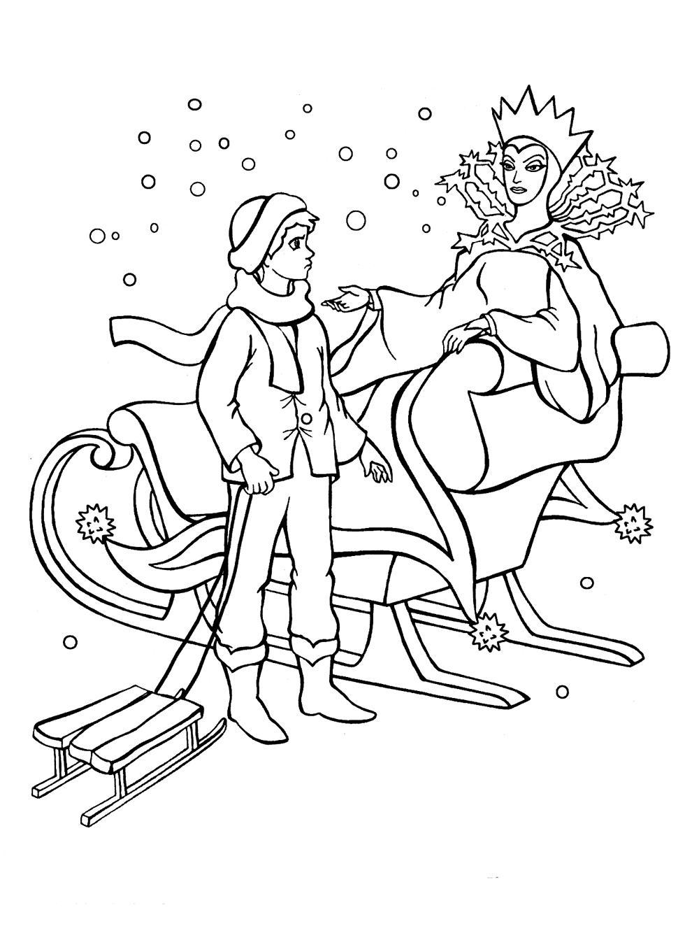 Раскраски Снежная королева Хорошие раскраски для детей по мультфильму Снежная королева