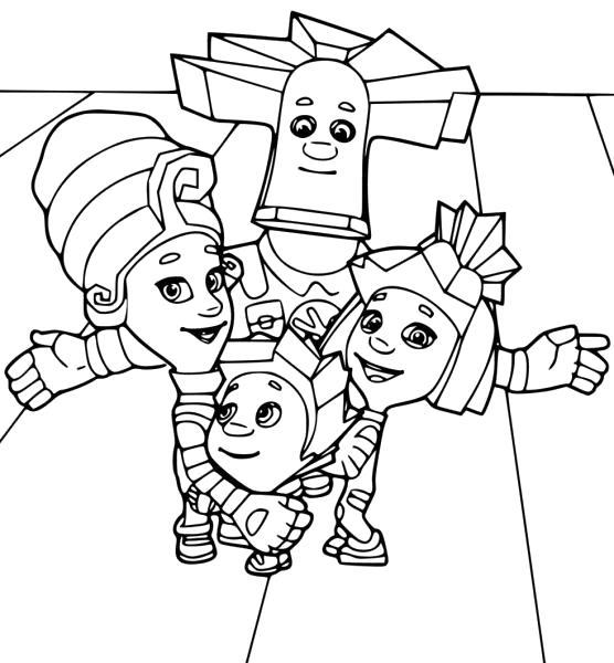Раскраски Фиксики Раскраски для мальчиков и девочек по Российскому мультфильму Фиксики
