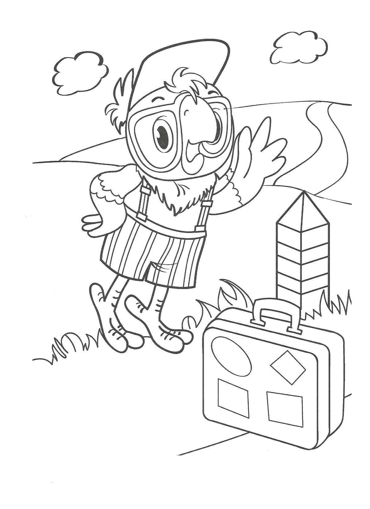 Раскраски Возвращение блудного попугая Раскраски по советскому мультфильму Возвращение блудного попугая