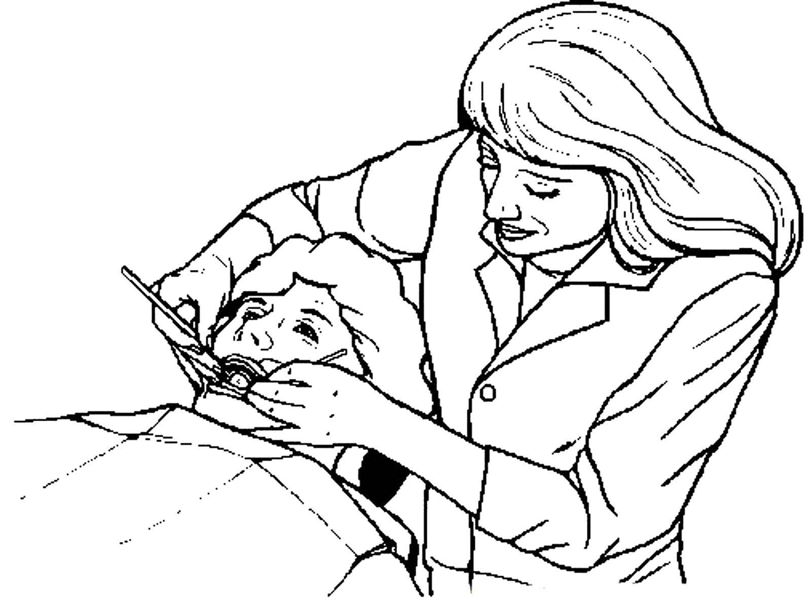 Раскраски Врач Раскраски про врачей для детей, раскраски доктор, медсестра, стоматолог, хирург,