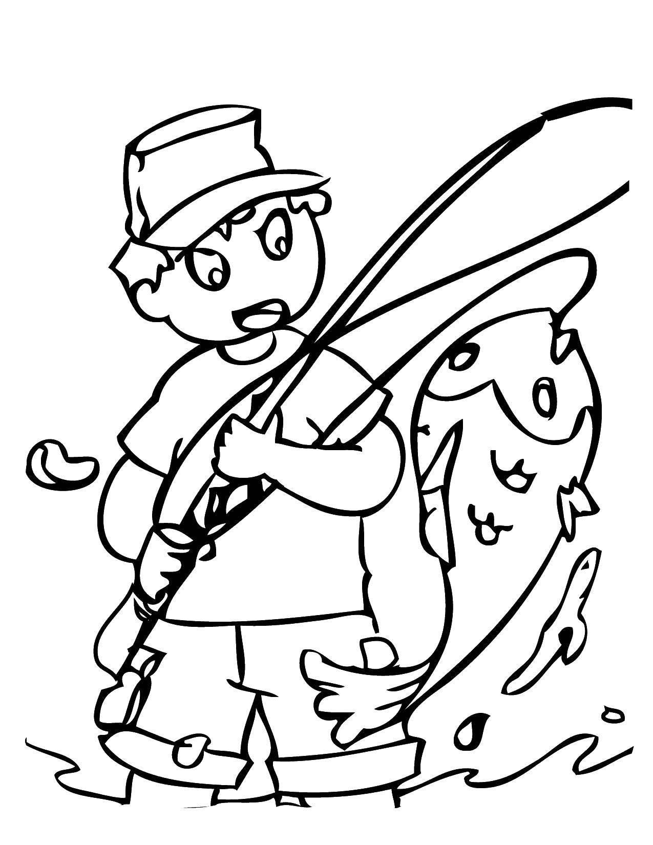 Раскраски Рыбак Раскраски Рыбак, раскраски про рыбаков и работников рыболовства для детей