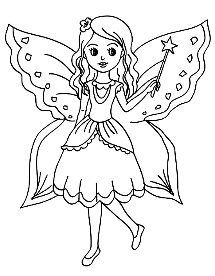 Раскраски феи Раскраски феи, раскраски красивых фей для девочек