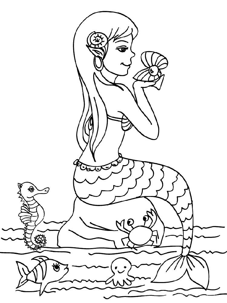 Раскраски русалки Раскраски русалки, раскраски с русалочками для девочек