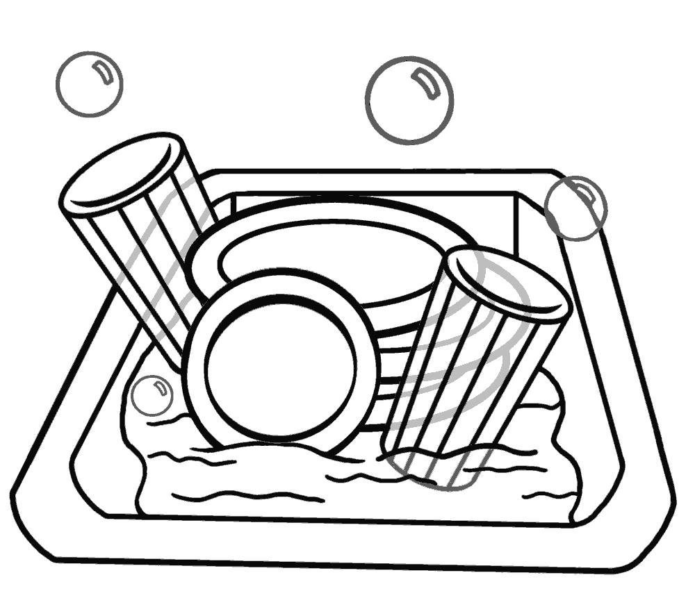Раскраски Посуда Раскраски Посуда. Раскраски для девочек с предметами посуды. Раскраски тарелки, ложки, сковорода, кастрюля и т.д