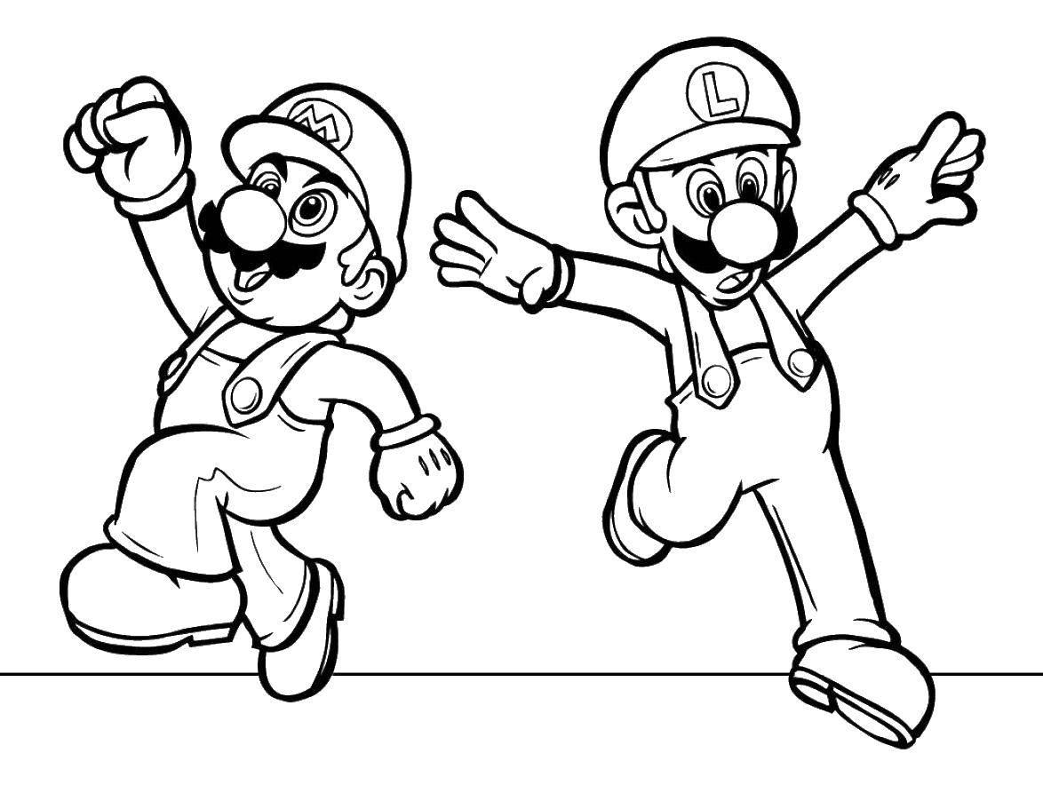 Раскраски Марио Раскраски Марио. Раскраски по компьютерной игре Раскраски Марио.