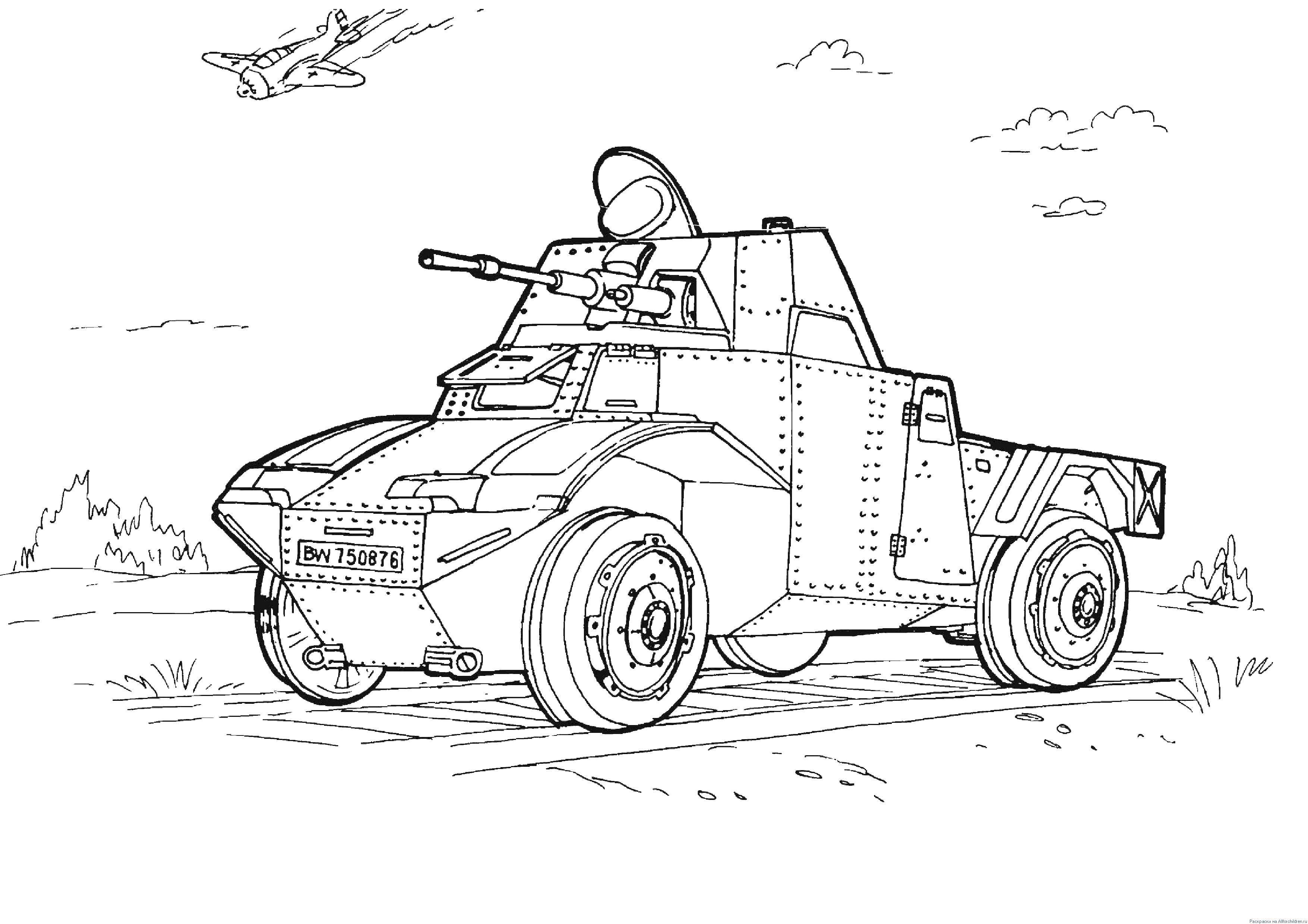 Раскраски Военная техника Раскраски для мальчиков Военная техника