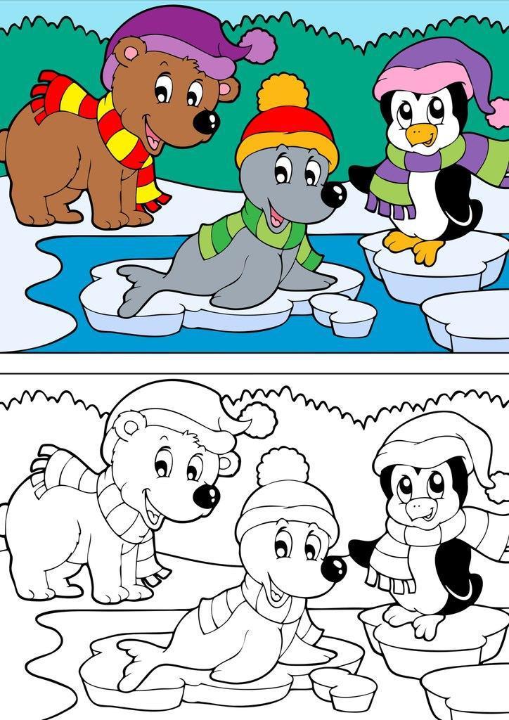 Раскраски по образцу Раскраски по образцу для детей, раскрась по образцу