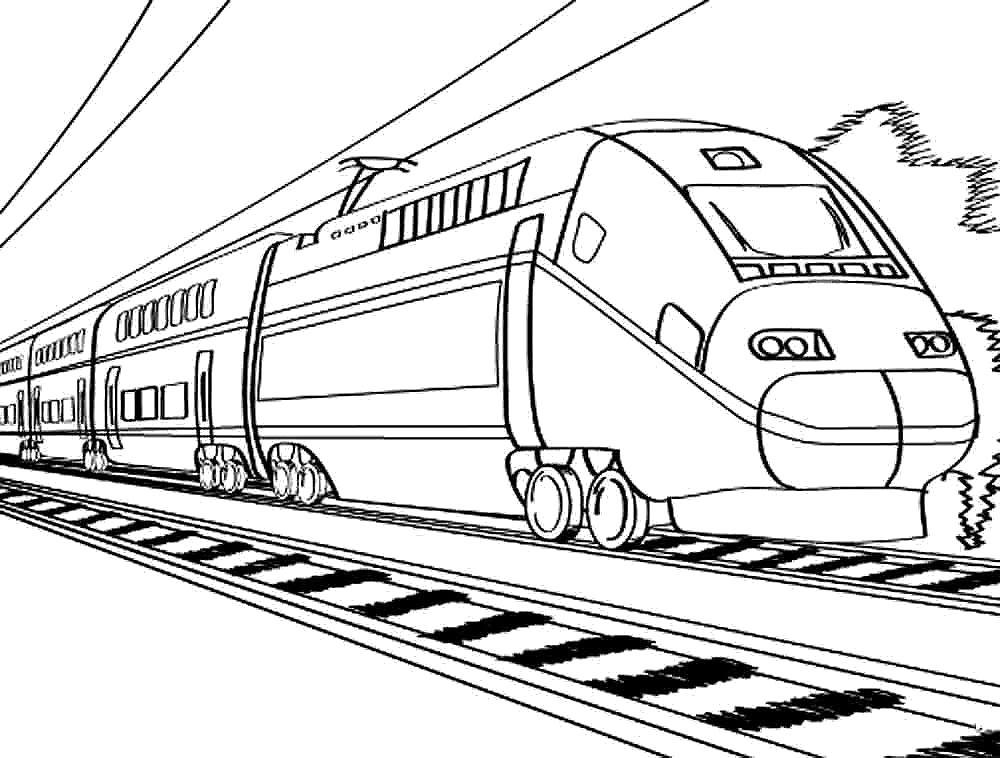 Раскраски поезда Раскраски поезда. Поезд на рельсах, электричка, тепловоз