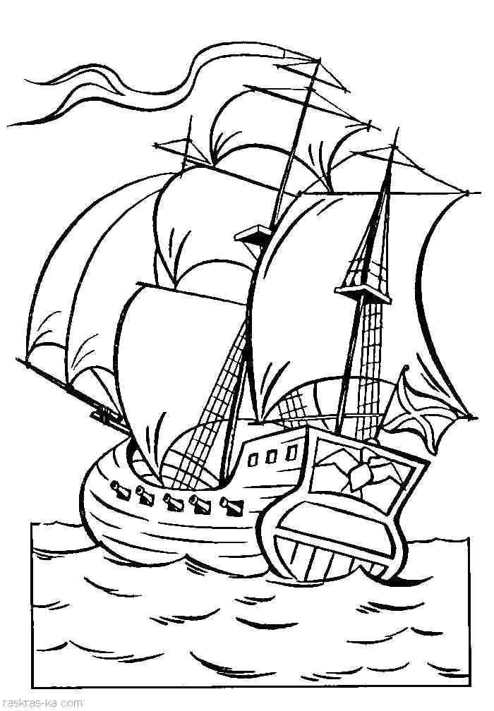 Раскраски корабли Раскраски кораблей для детей, раскраски парусник, пароход, лайнер, яхта, лодка