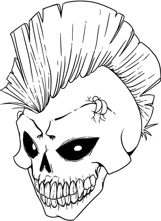Раскраски Череп Раскраски Череп, раскраски для подростков с черепами