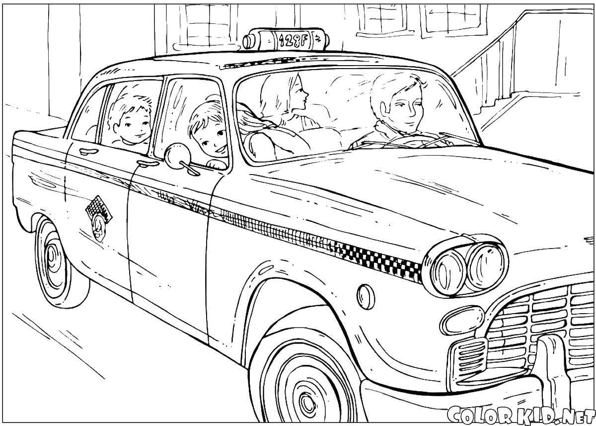 Раскраски такси Раскраски такси, раскраски машин такси