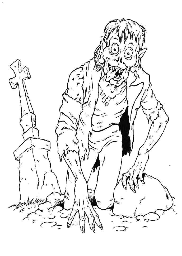 Раскраски Зомби Раскраски Зомби, раскраски про зомби, страшные зомби, жуткие зомби