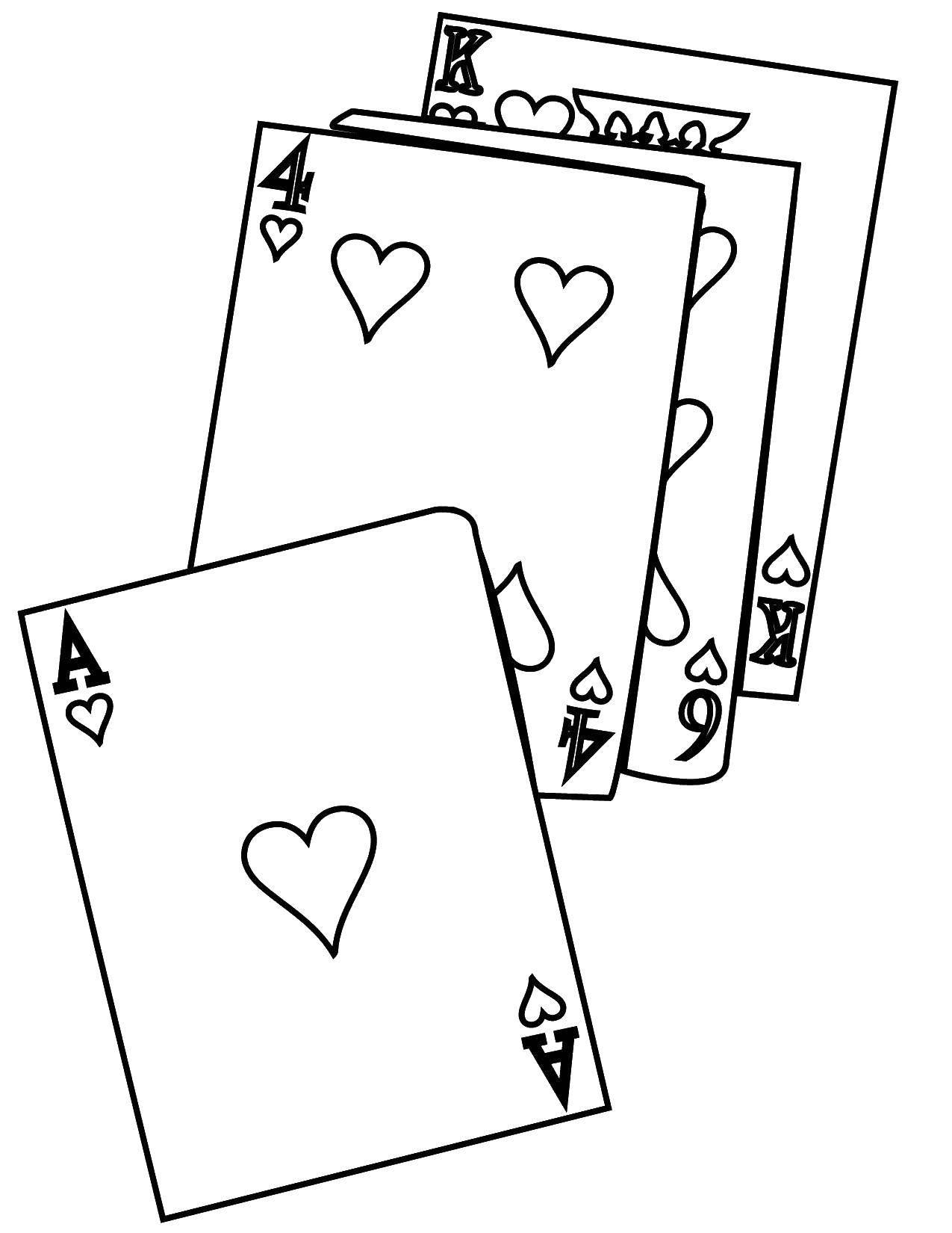 Раскраски карты Раскраски карты, раскраски игральных карт