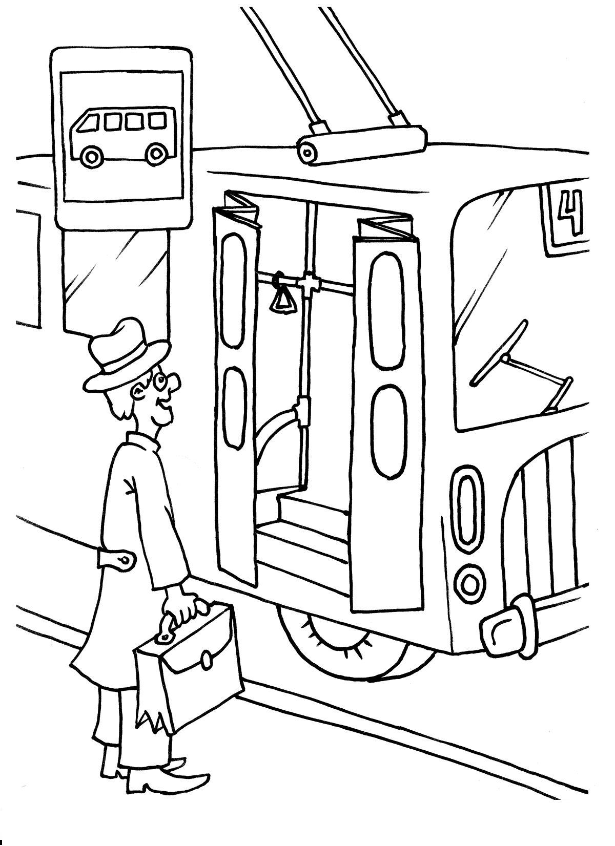 Раскраски троллейбус Раскраски троллейбус, раскраски троллейбусов для детей