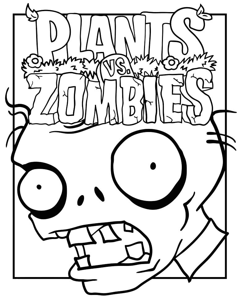 Раскраски растения против зомби Раскраски для мальчиков по компьютерной игре растения про зомби