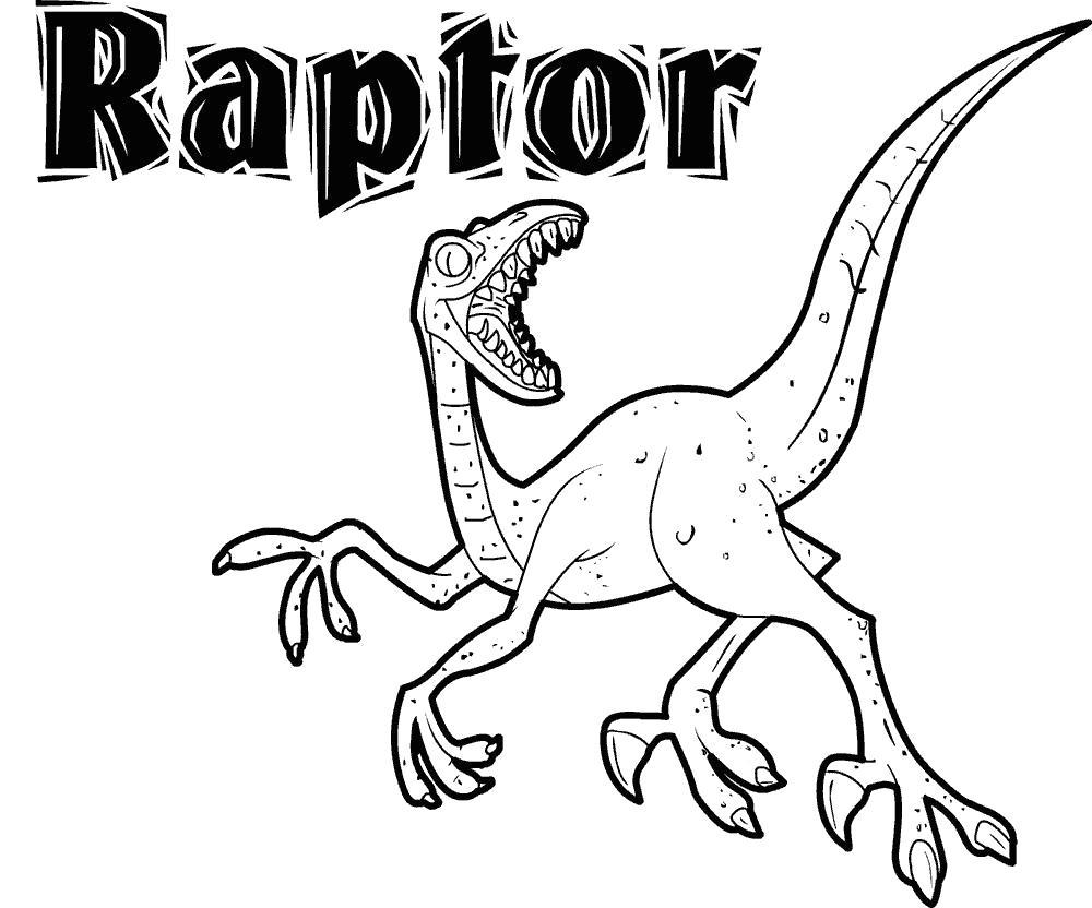 Раскраски Раптор Раскраски Раптор, раскраски динозавров детям