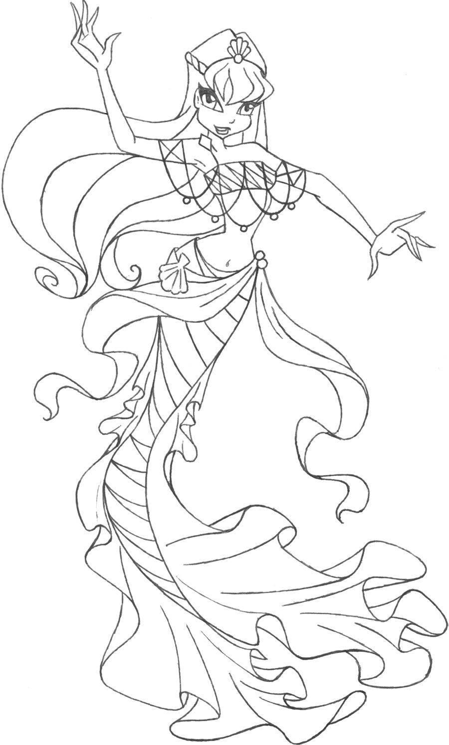 раскраски для девочек по мультфильму винкс