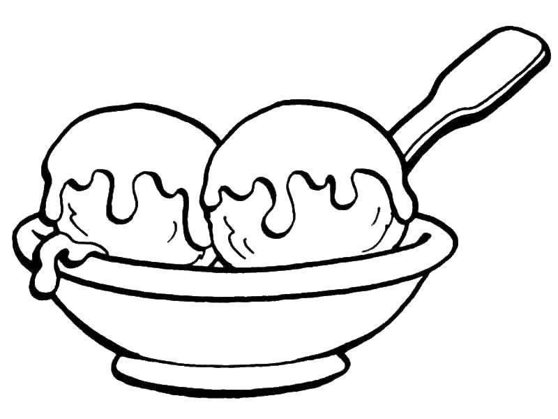 Мороженное в шариках