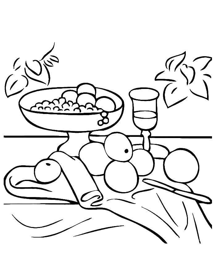 Стол с фруктами