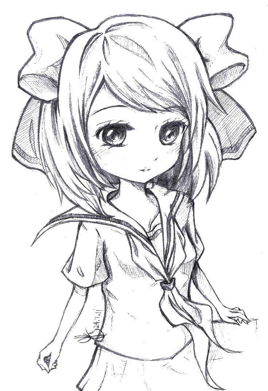 раскраски девушек из аниме