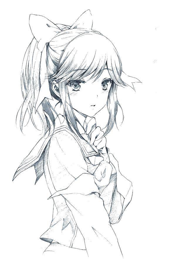 картинки аниме для раскраски
