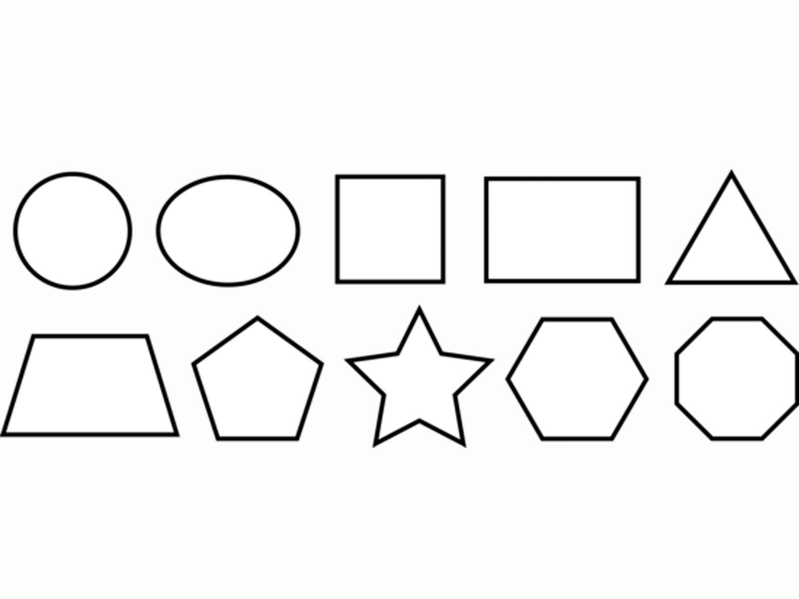 раскраски контуры для вырезания геометрических фигур