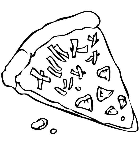 Раскраски еды хлеб торты пицца  Пицца