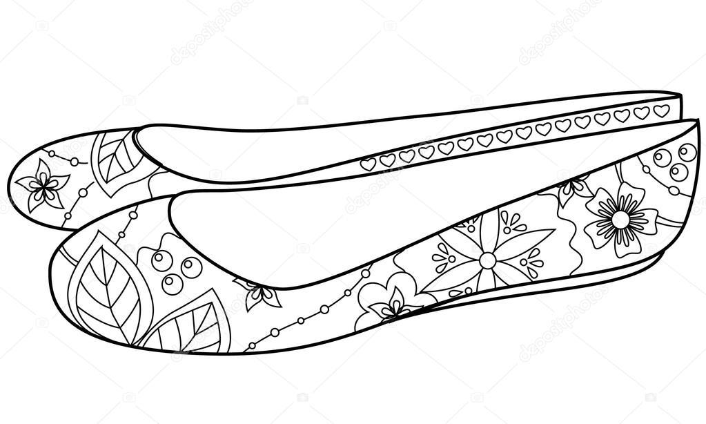 раскраски обувь туфли сапоги ботинки