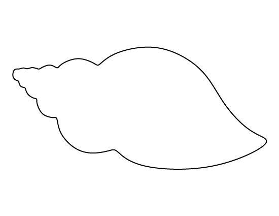 ракушка  Раскраски контуры морских животных для вырезания из бумаги детям
