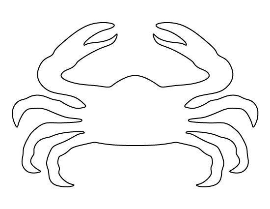 краб  Раскраски контуры морских животных для вырезания из бумаги детям